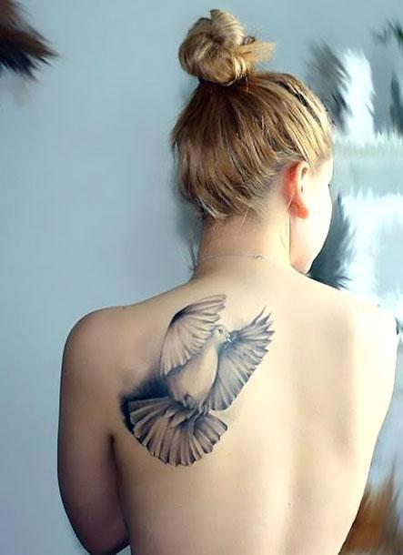 Dove for Girl Tattoo Idea