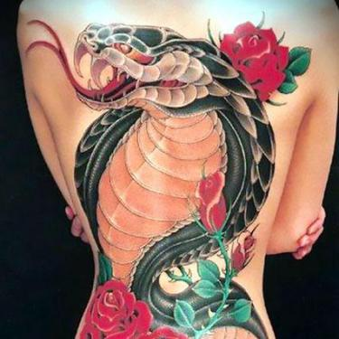 Roses Cobra Tattoo