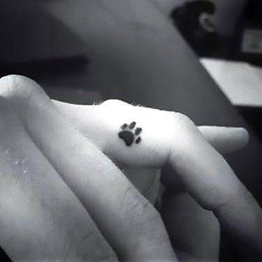 Tiny Puppy Paw Print Tattoo
