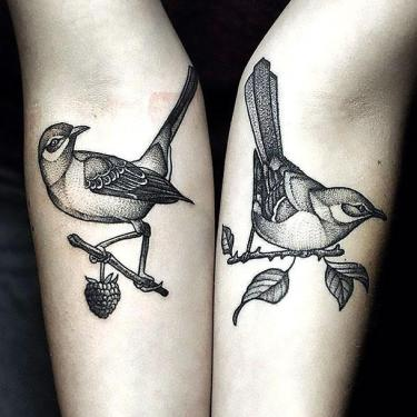 Mockingbird on Forearm Tattoo