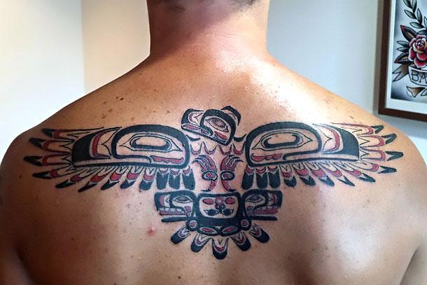 Thunderbird on Back Tattoo Idea