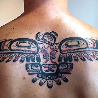 Thunderbird on Back Tattoo
