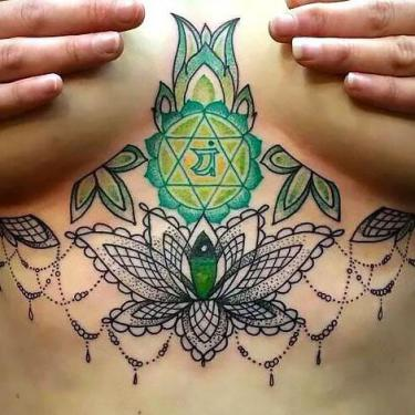 Under Breast Chakra Tattoo