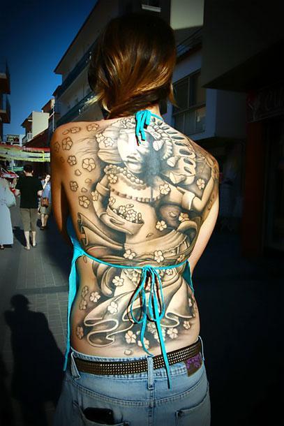 Unique Back Tattoo Idea