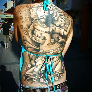 Unique Back Tattoo