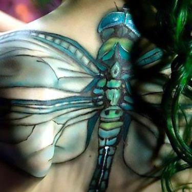 Dragonfly Spine Tattoo