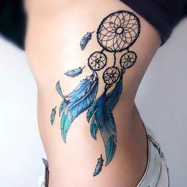 Dreamcatcher on Ribs Tattoo