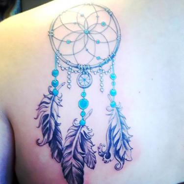 Dreamcatcher on Shoulder Blade Tattoo