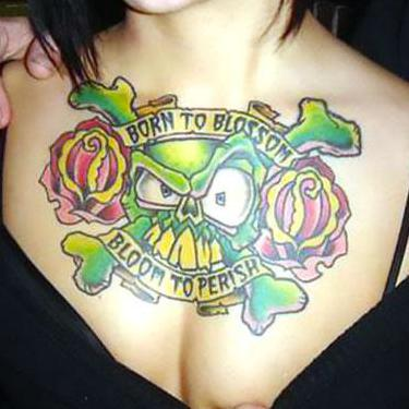 Upper Chest Tattoo for Women Tattoo