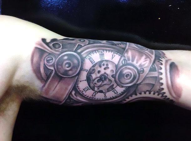 Watch on Bicep for Men Tattoo Idea