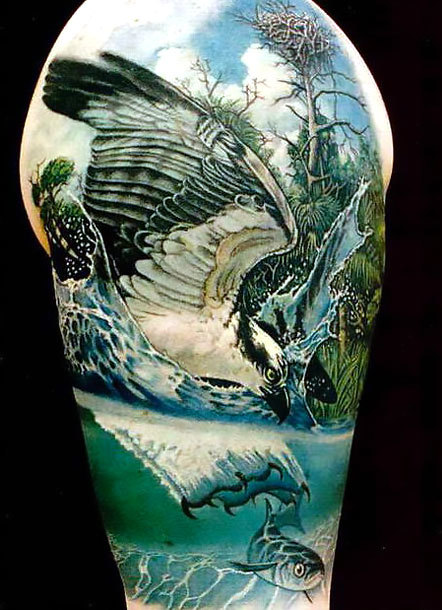 Eagle Hunting A Fish Tattoo Idea