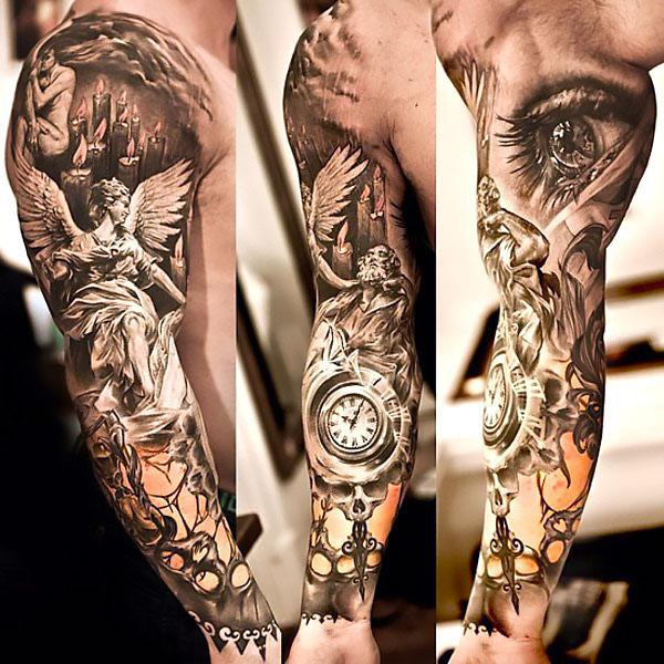 Amazing Sleeve For Men Tattoo Idea