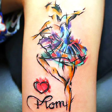 Watercolor Mom Tattoo