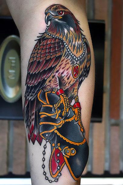 Wealthy Hawk Tattoo Idea