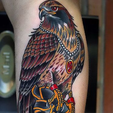Wealthy Hawk Tattoo