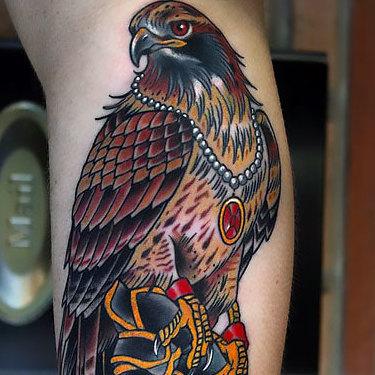 Wealthy Hawk Tattoo