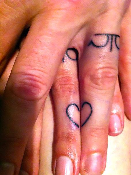 Wedding Finger Tattoo Idea
