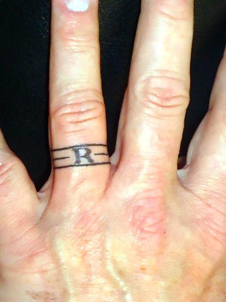 Wedding Ring Tattoo Idea