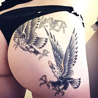 Eagles on Butt Tattoo