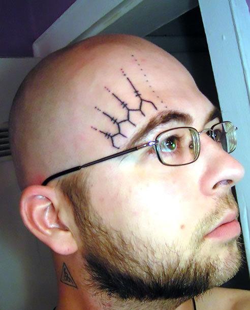 Geometric Face Tattoo Idea