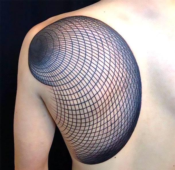 Geometric Tattoo on Shoulder Blade Tattoo Idea