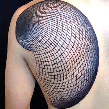 Geometric Tattoo on Shoulder Blade Tattoo