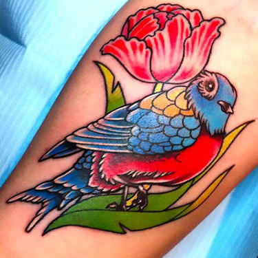 Girly Sparrow Tattoo