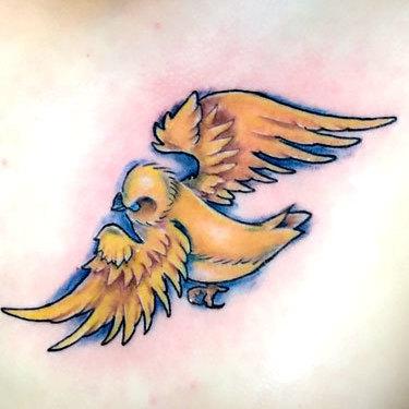 Golden Sparrow Tattoo