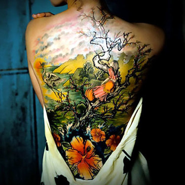 Great Back Tattoo