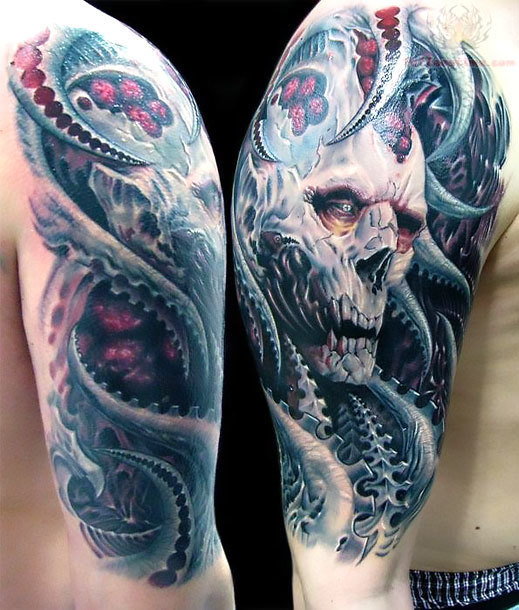Great Horror Tattoo on Shoulder Tattoo Idea