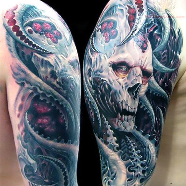Great Horror Tattoo on Shoulder Tattoo