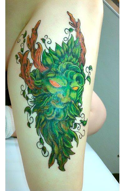 Green Man Tattoo Idea