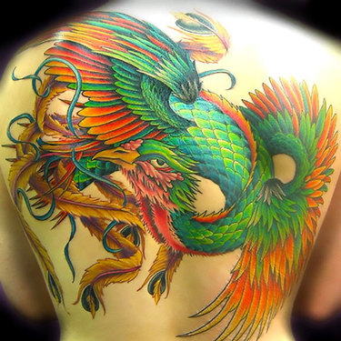Green Phoenix Tattoo