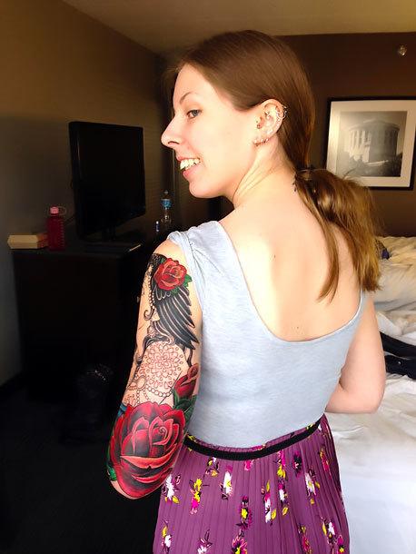 Half Sleeve for Girl Tattoo Idea