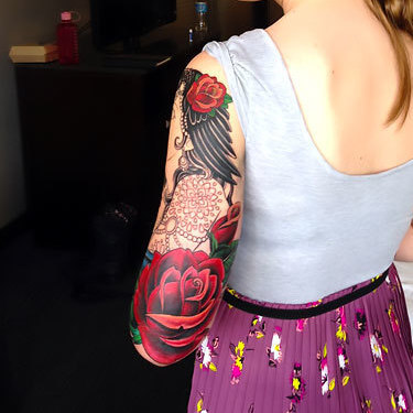 Half Sleeve for Girl Tattoo
