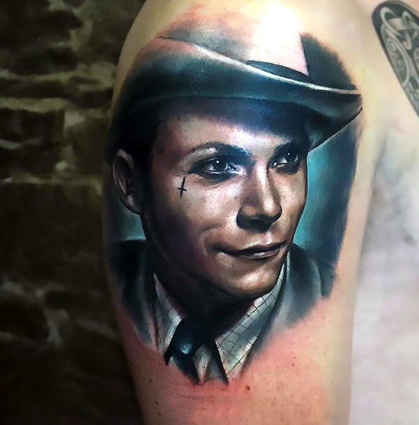 Hank Williams Portrait Tattoo Idea