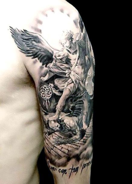 Angel Half Sleeve Tattoo Idea