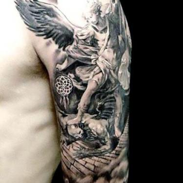 Angel Half Sleeve Tattoo