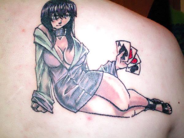 Hinata on Shoulder Blade Tattoo Idea
