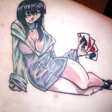 Hinata on Shoulder Blade Tattoo