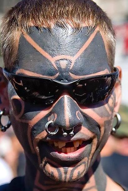 Horrible Face Tattoo Idea