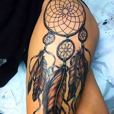 Indian Feather Dreamcatcher Tattoo