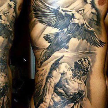 Angels On Side For Men Tattoo