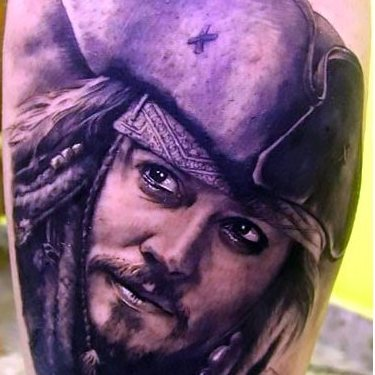 Jack Sparrow Portrait Tattoo