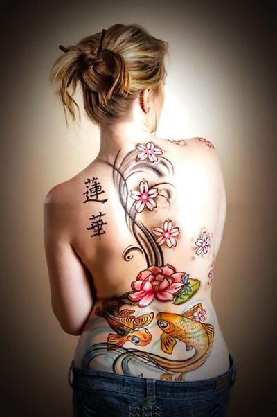 Japanese Back Tattoo Idea