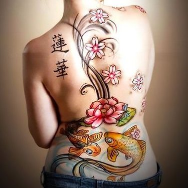 Japanese Back Tattoo