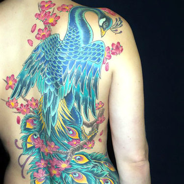 Japanese Peacock Tattoo