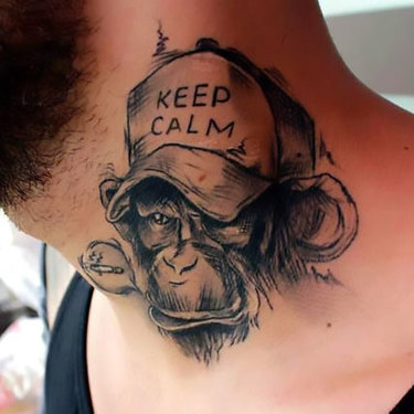 Keep Calm Monkey Tattoo