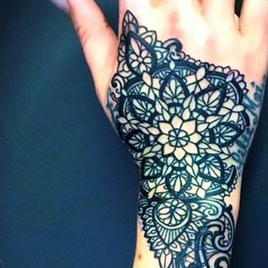 Lace on Hand for Women Tattoo