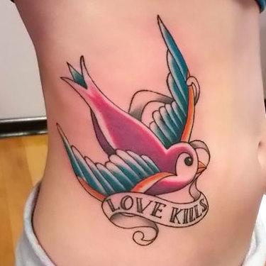 Love Kills Tattoo